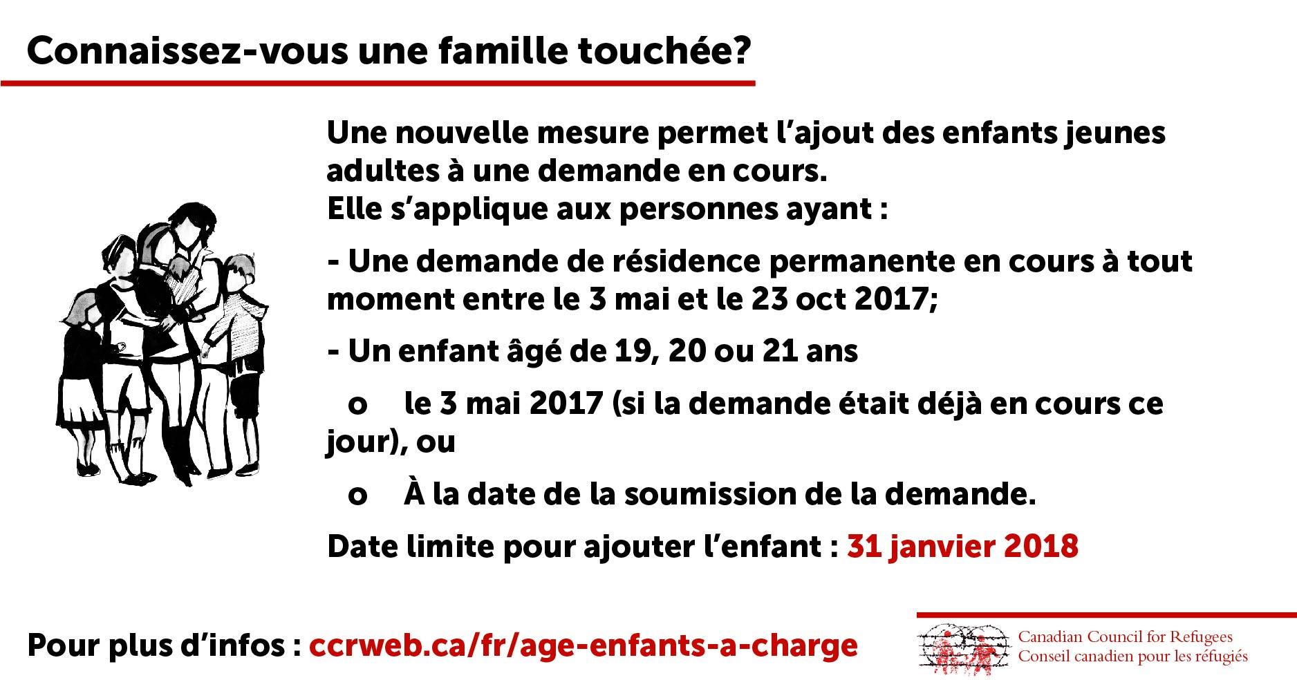 Connaissez-vous une famille touchée?