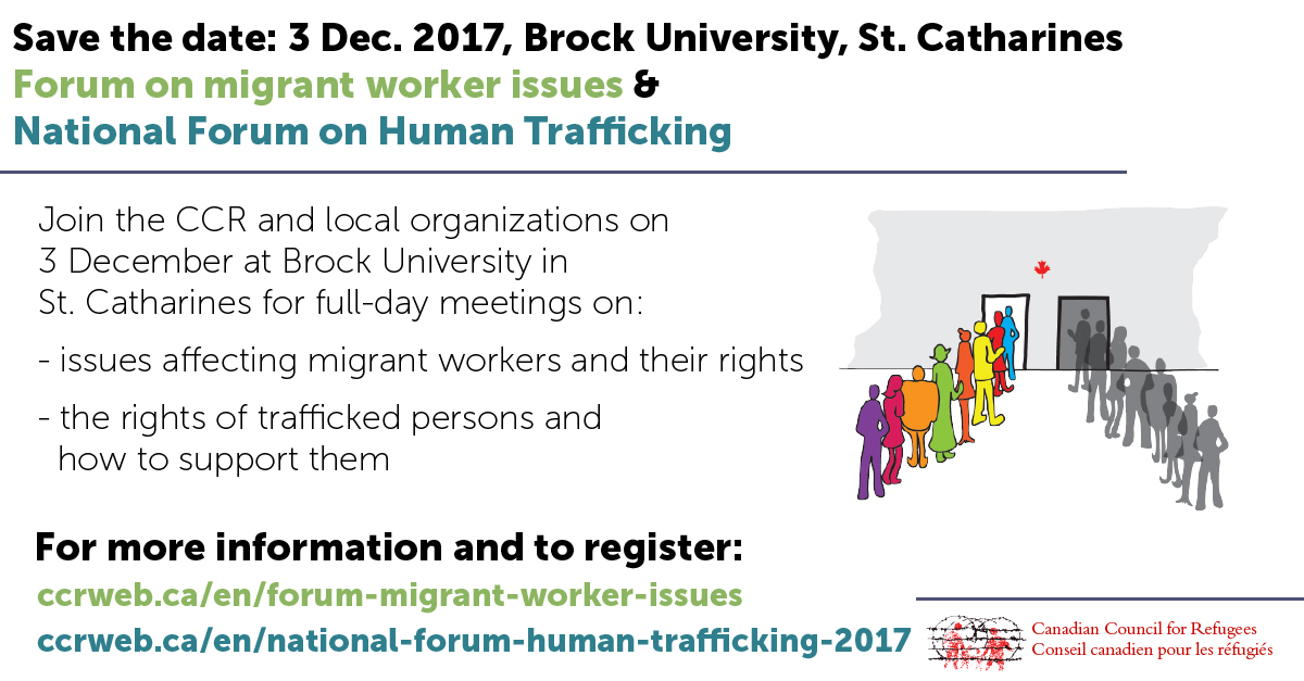 3 December forums on migrant workers and human trafficking