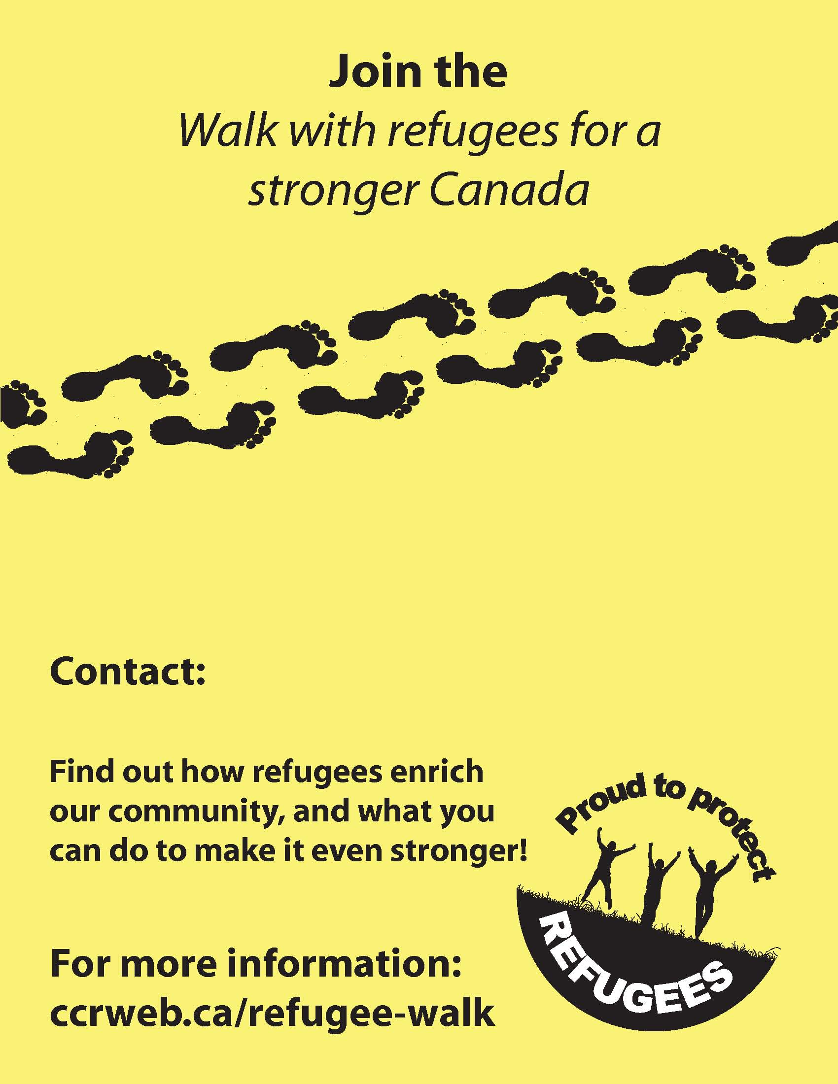 Join the Walk with refugees for a stronger Canada