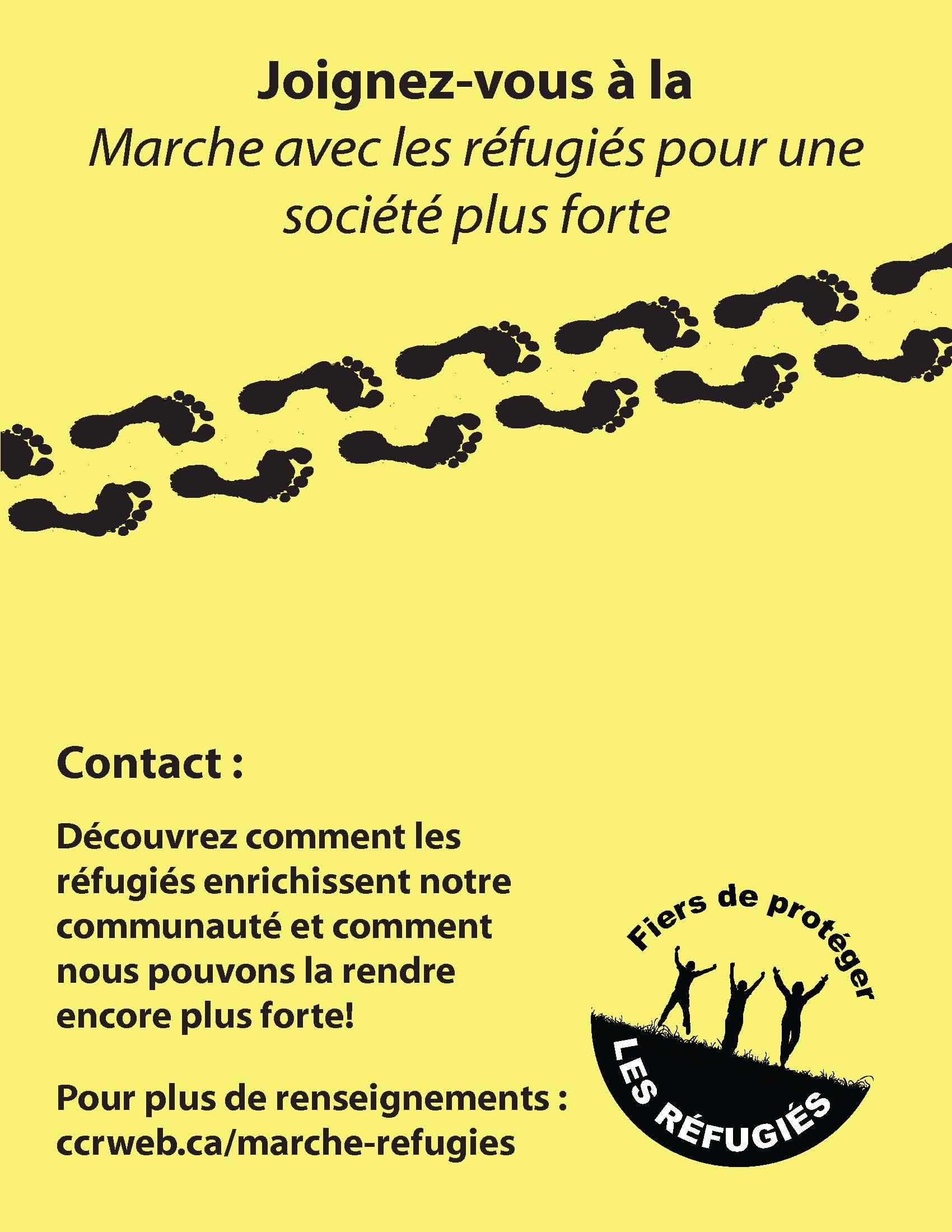 Joignez-vous à la Marche avec les réfugiés pour une société plus forte