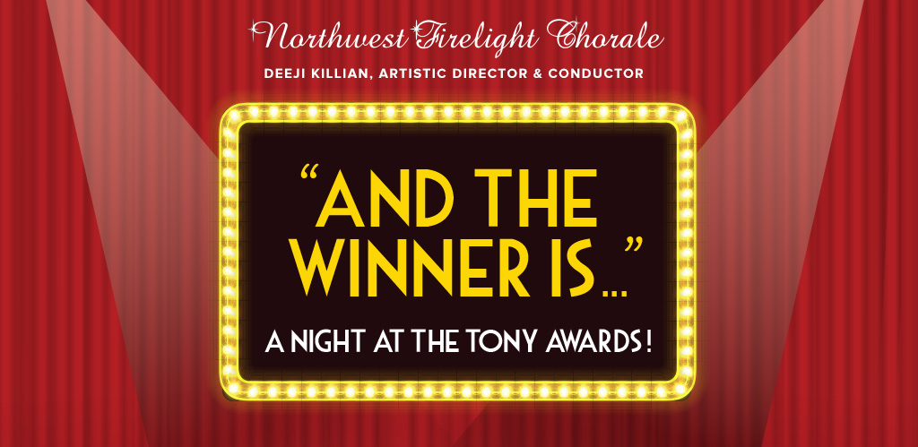 """Text of image: """"And the Winner Is..."""" A Night at the Tony Awards!"""