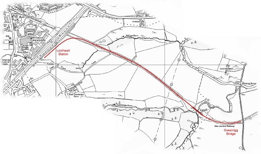 Map - Lionheart to Greenrigg