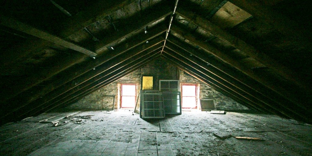 John Brown House attic