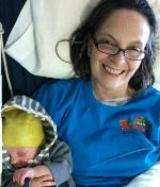 Lisa enjoying time with grandson, Silas!