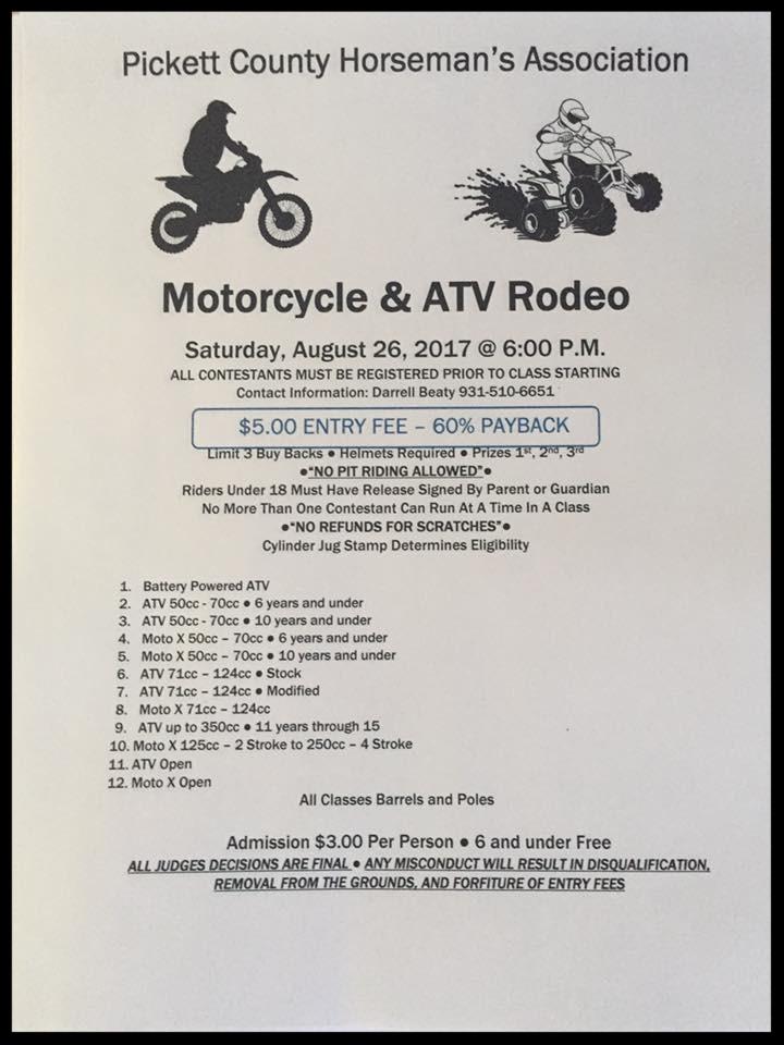 Motorcycle & ATV Rodeo 8-26-17