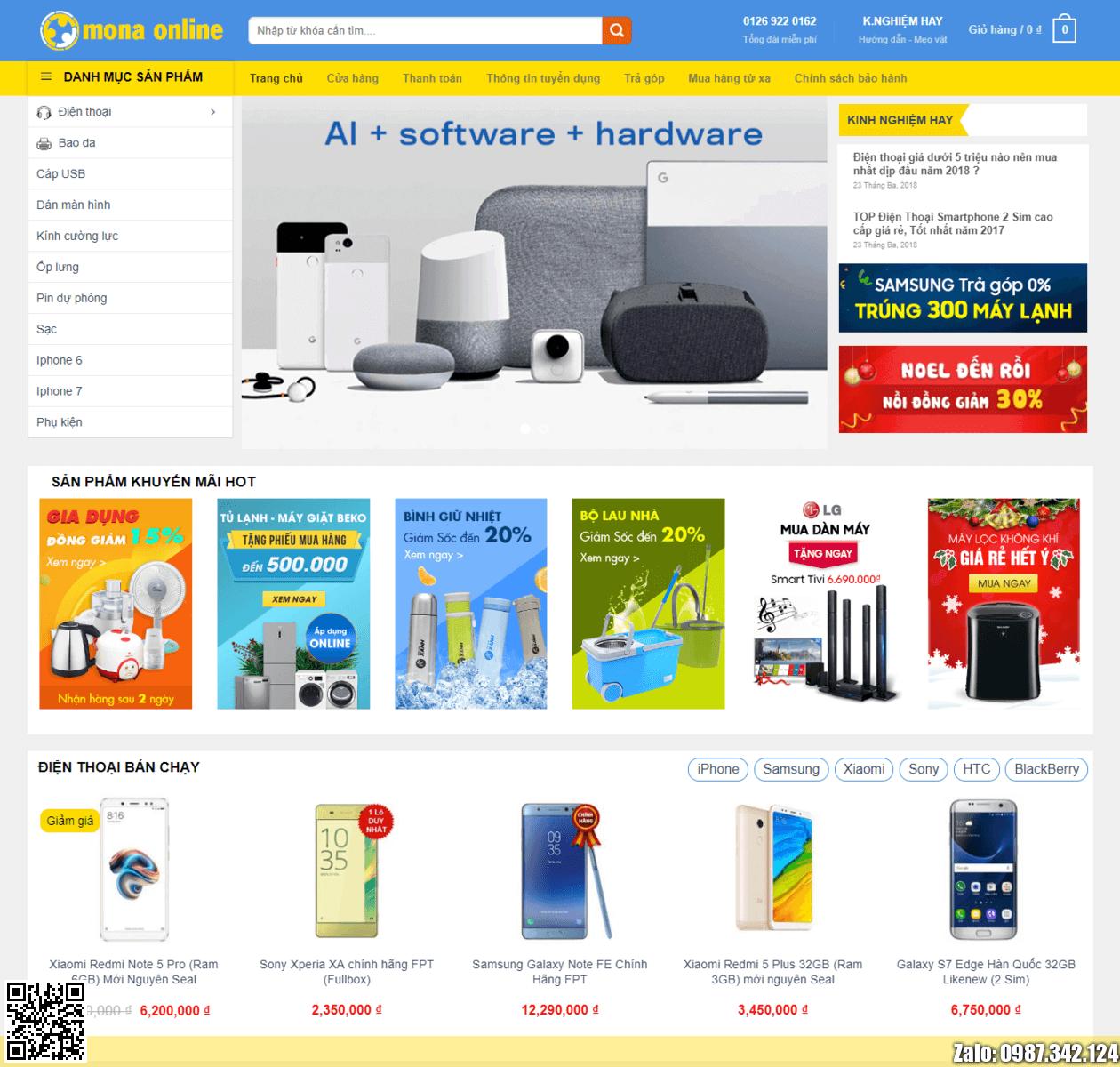 Mẫu web điện máy xanh thumbnail