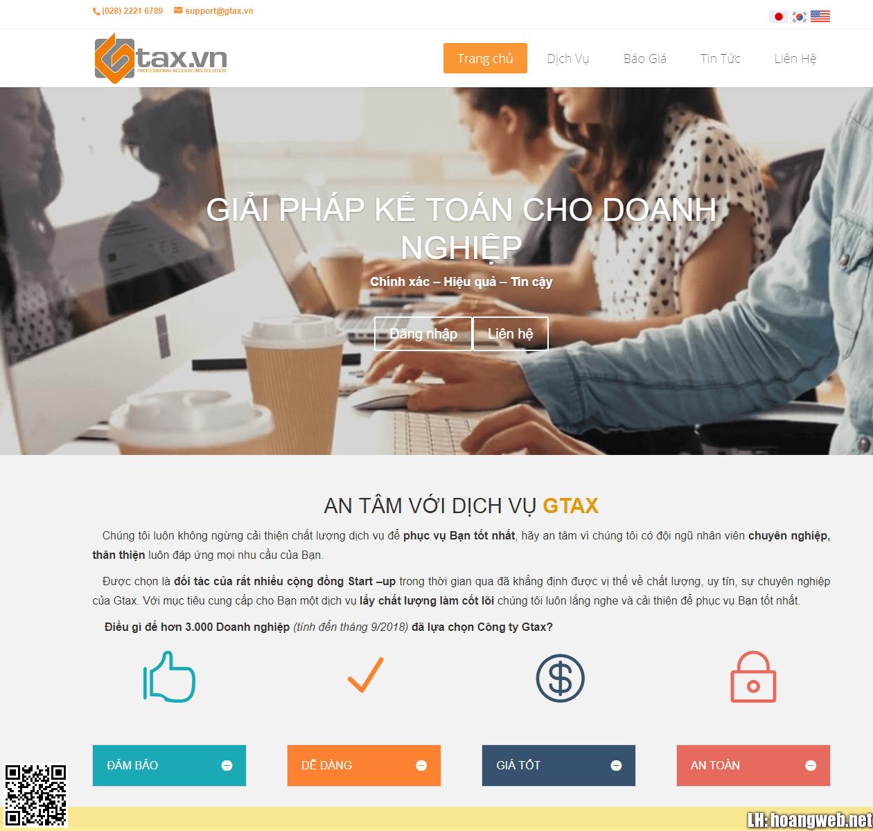 Mẫu web dịch vụ kế toán thumbnail