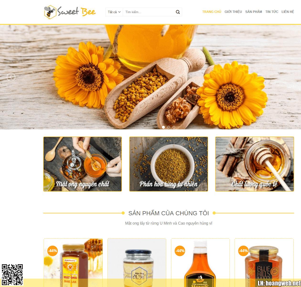 Mẫu web mật ong rừng thumbnail