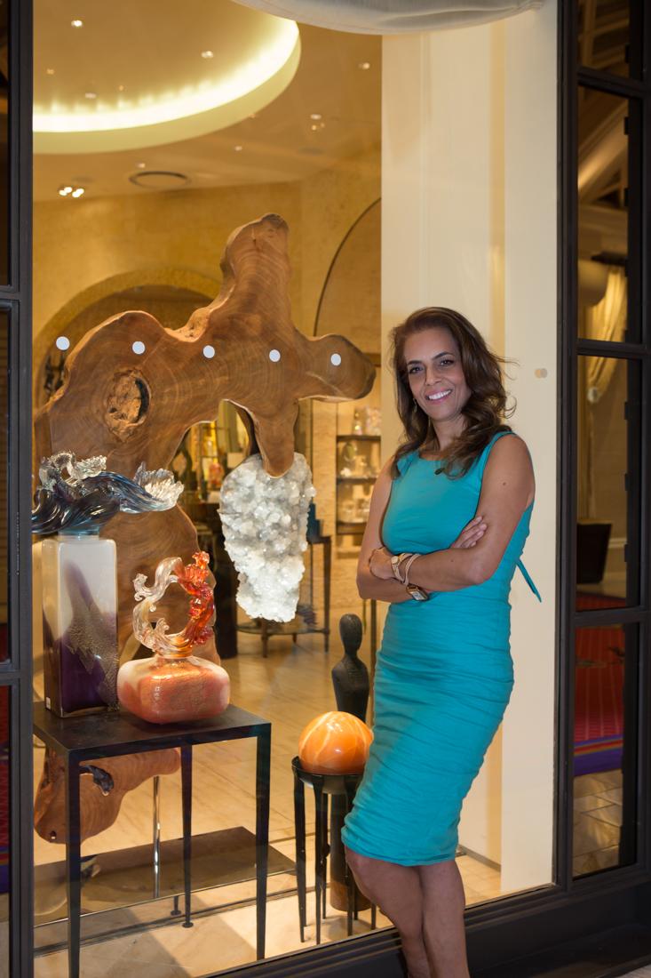 Dorit Schwartz Fine Art Crystal & Wood Sculpture at the Wynn Home Store