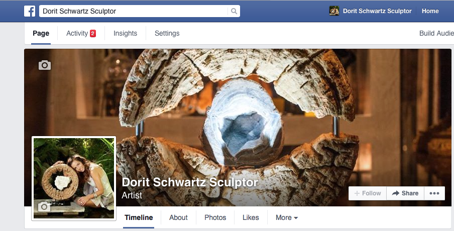 Like our fan page on Facebook http://facebook.com/DoritSchwartzSculptor