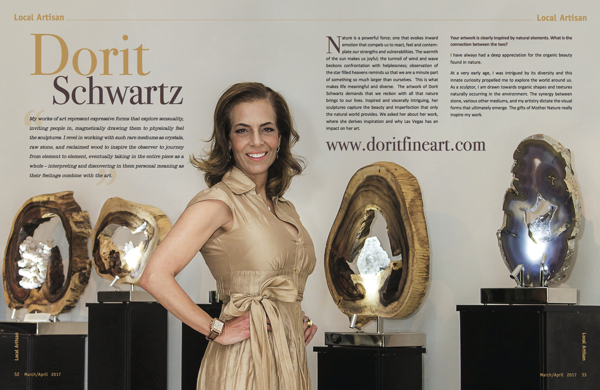 DORIT SCHWARTZ FEATURED AS A LOCAL ARTISAN IN GREATER LAS VEGAS