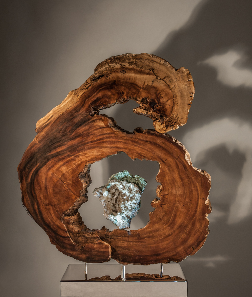 Spirit Guides - Crystal & Wood Sculpture by Fine Artist Dorit Schwartz