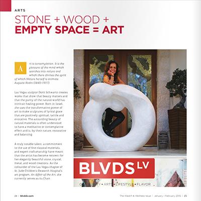Dorit Schwartz as Featured in BLVDS LV Magazine. January 2015