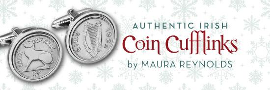 Authentic Irish Coin Cufflinks