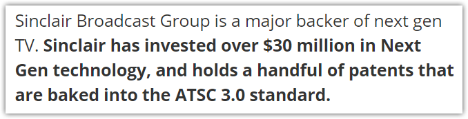 sinclair investments in atsc 3.0