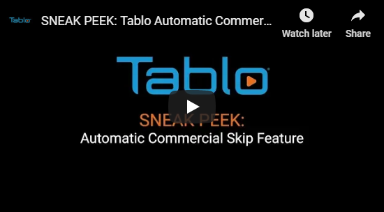 Tablo Commercial Skip Update Video