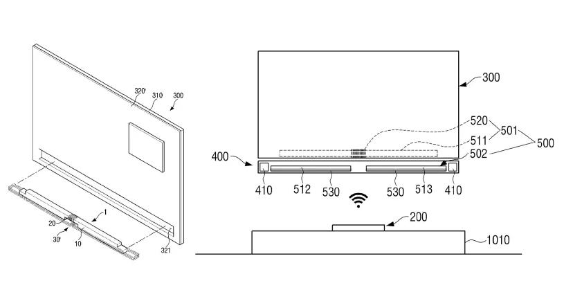 Samsung cordless TV patent