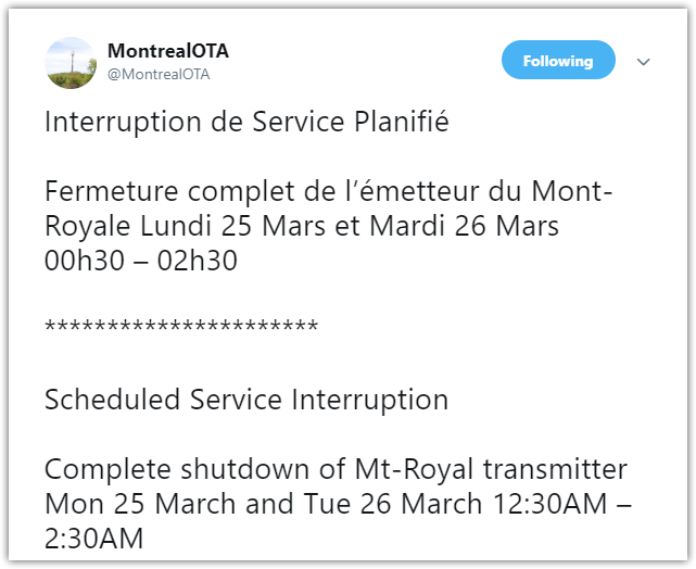 montreal ota tweet
