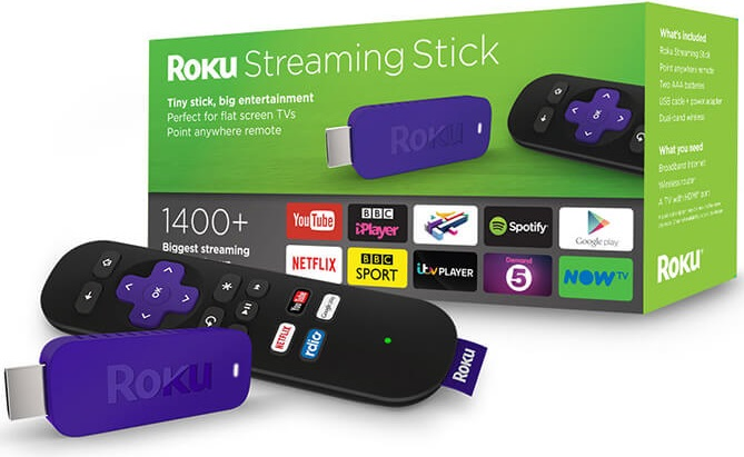 purple roku stick