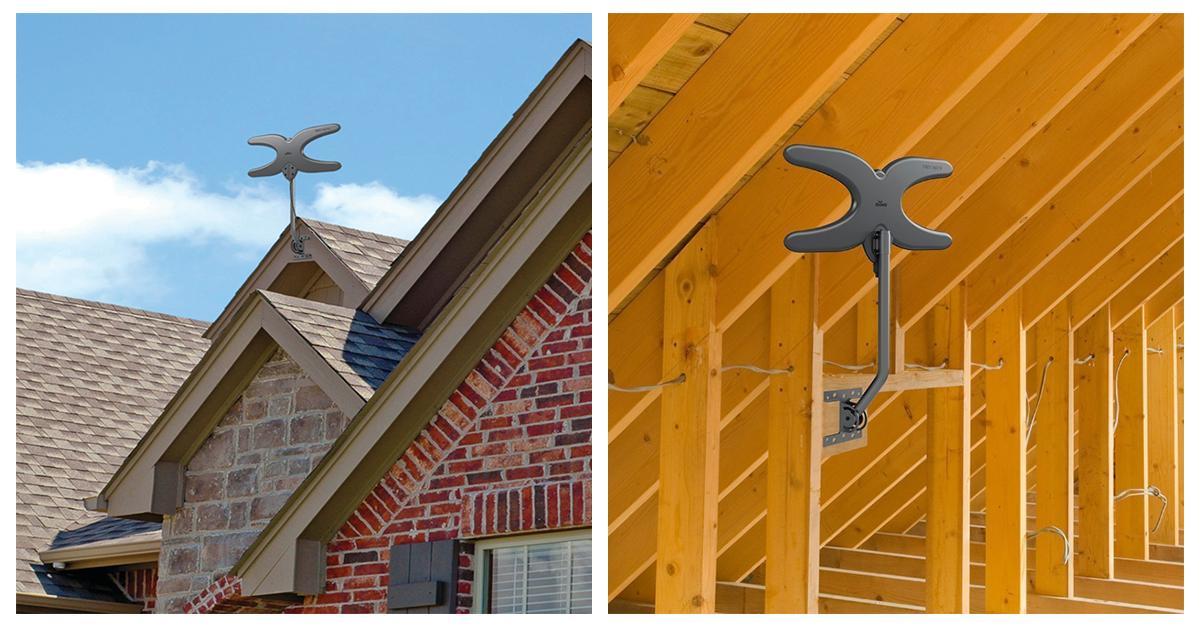 antenna roof versus attic