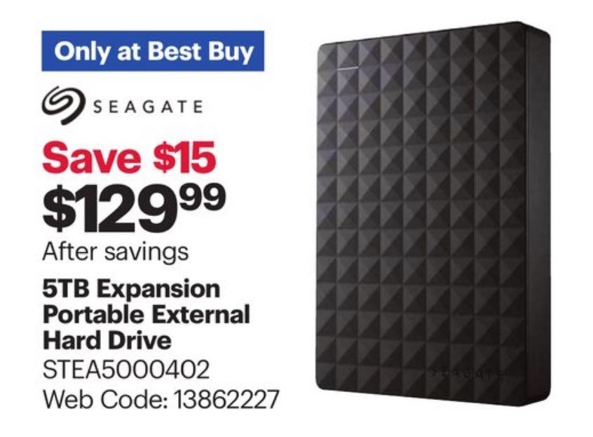 seagate 5TB deal