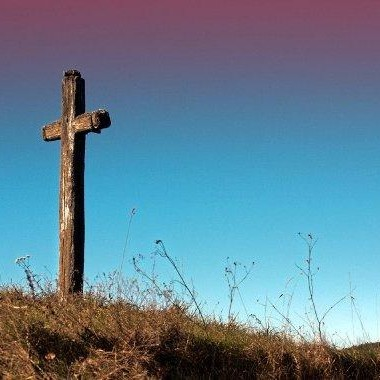 Crucifix on hill