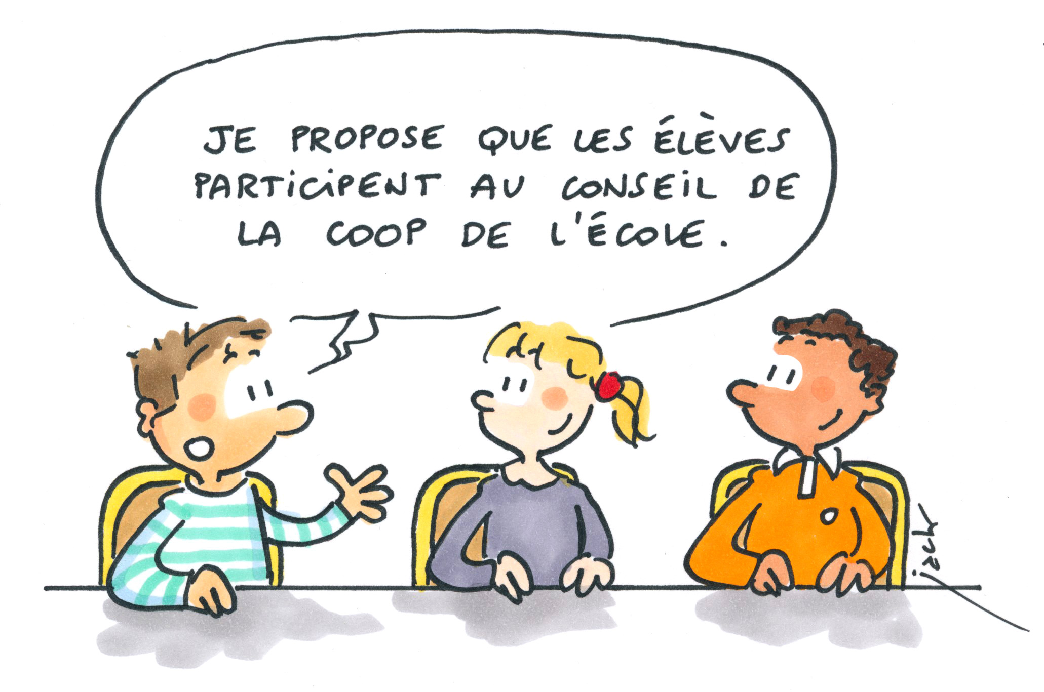 Dessin de Jack Koch : Article 13 Droit d'expression
