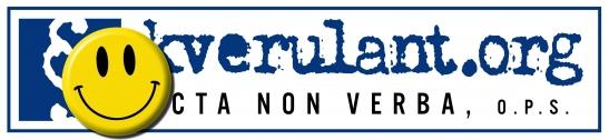 Aprílové logo obecně prospěšné organizace Acta non verba ( kverulant.org)