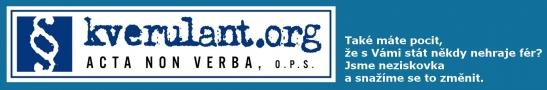 Logo obecně prospěšné organizace Acta non verba ( kverulant.org)