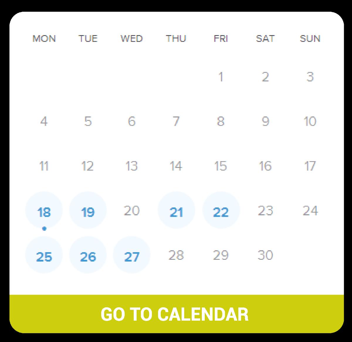 TechScout Calendar
