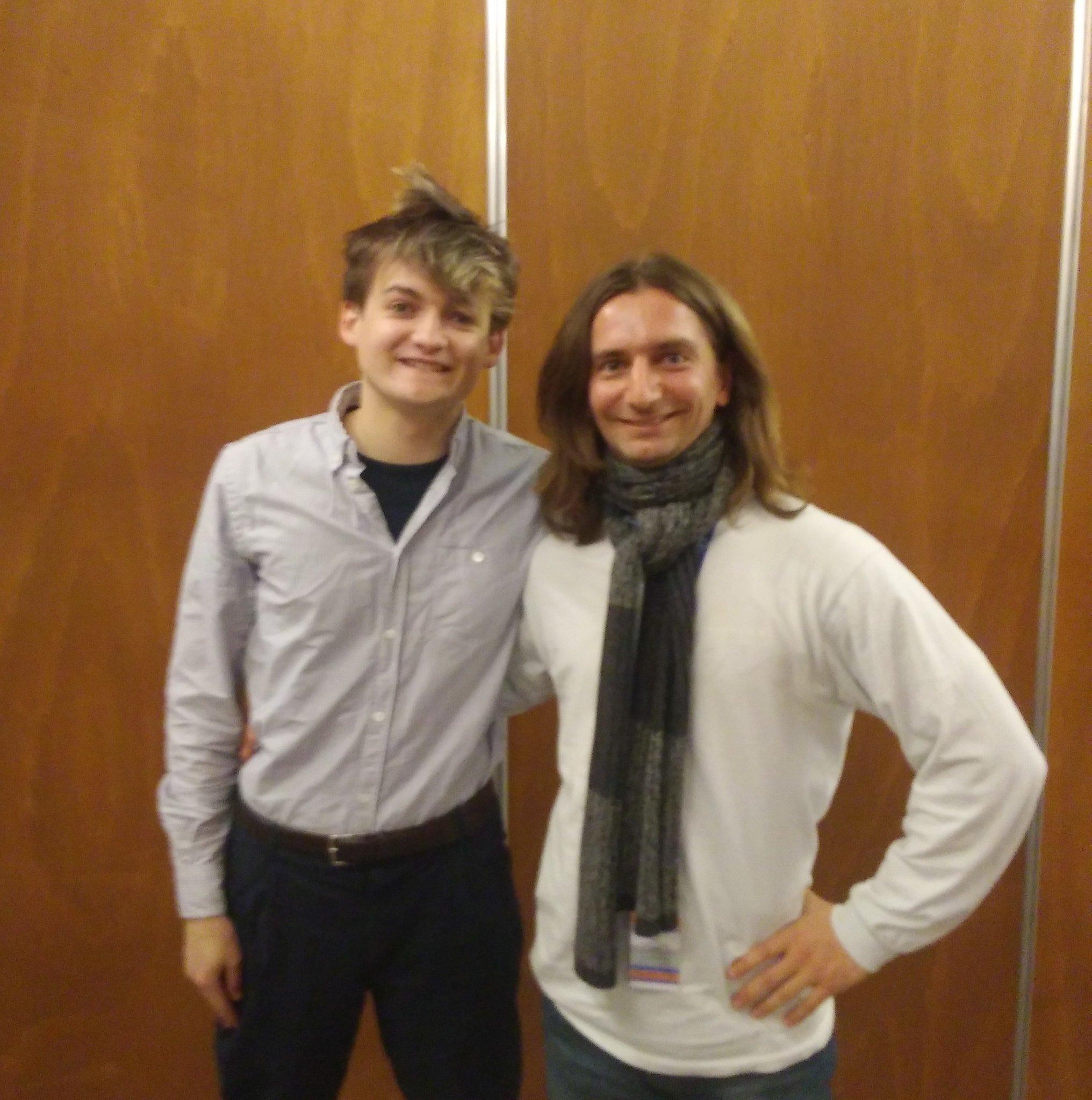 With Jack Gleeson