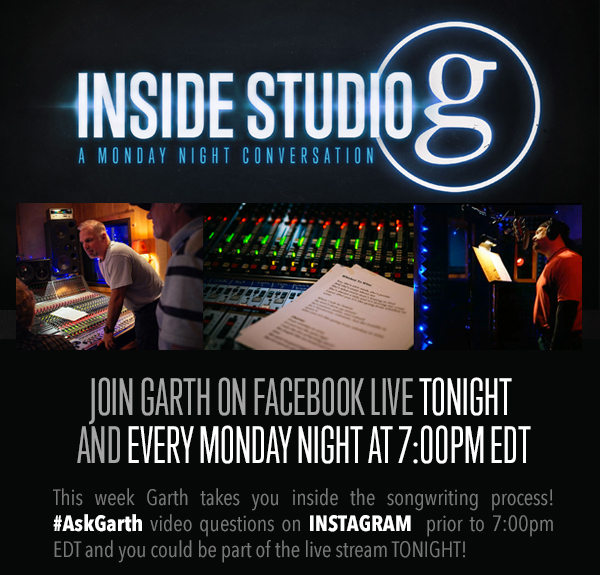 JOIN GARTH ON FACEBOOK LIVE TONIGHT AND EVERY MONDAY NIGHT AT 7PM EDT
