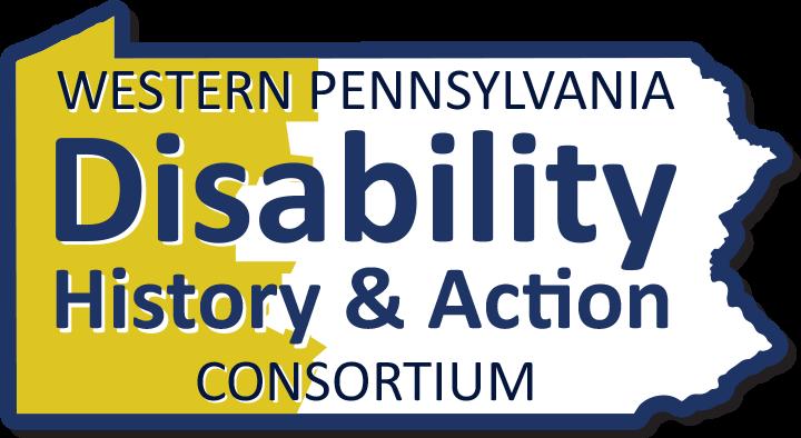 WPDHAC logo. Outline of Pennsylvania, western region colored yellow.