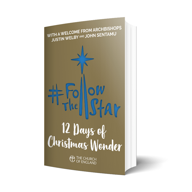 A mock up of the #FollowTheStar: 12 Days of Wonder booklet.