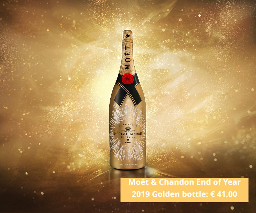 Moët end of year 2019 bottle: € 41.00