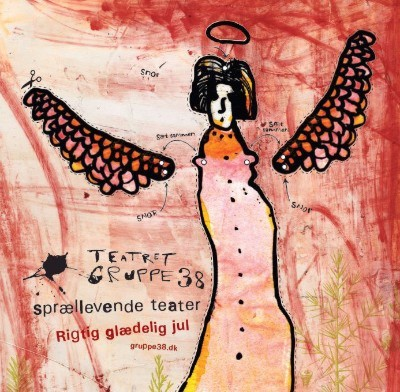 Teatret Gruppe 38 - sprællevende teater - grafik: Claus Helbo