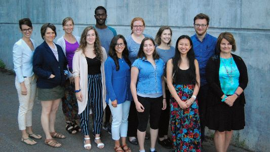 Group of staff and students