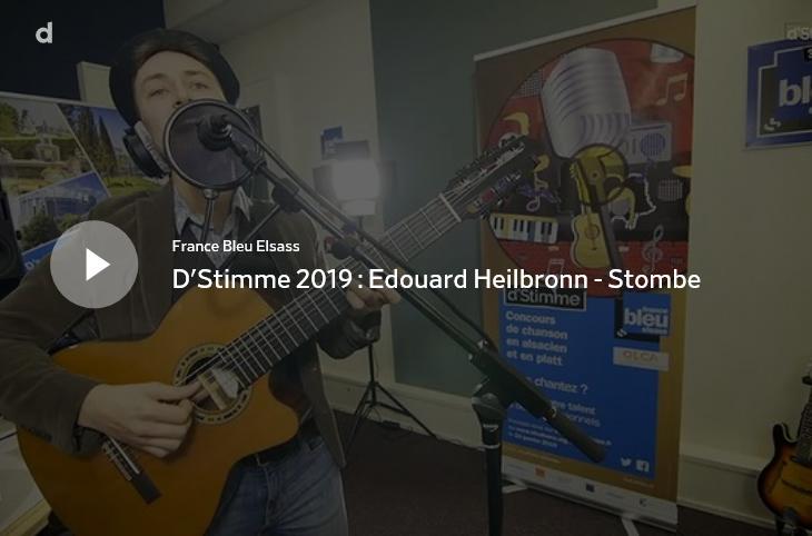 Lien pour voter - France Bleu Elsass - D'Stimme 2019 : Edouard Heilbronn - Stombe