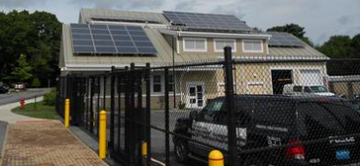 Watertown Police Station - solar panels installed as part of the Green Community energy conservation measures
