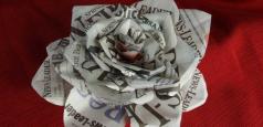 Newspaper Valentine Rose