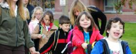 SRTS Walk to School Day in Bozeman, Montana