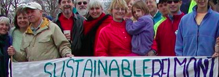 Members of Sustainable Belmont at a 350.org march