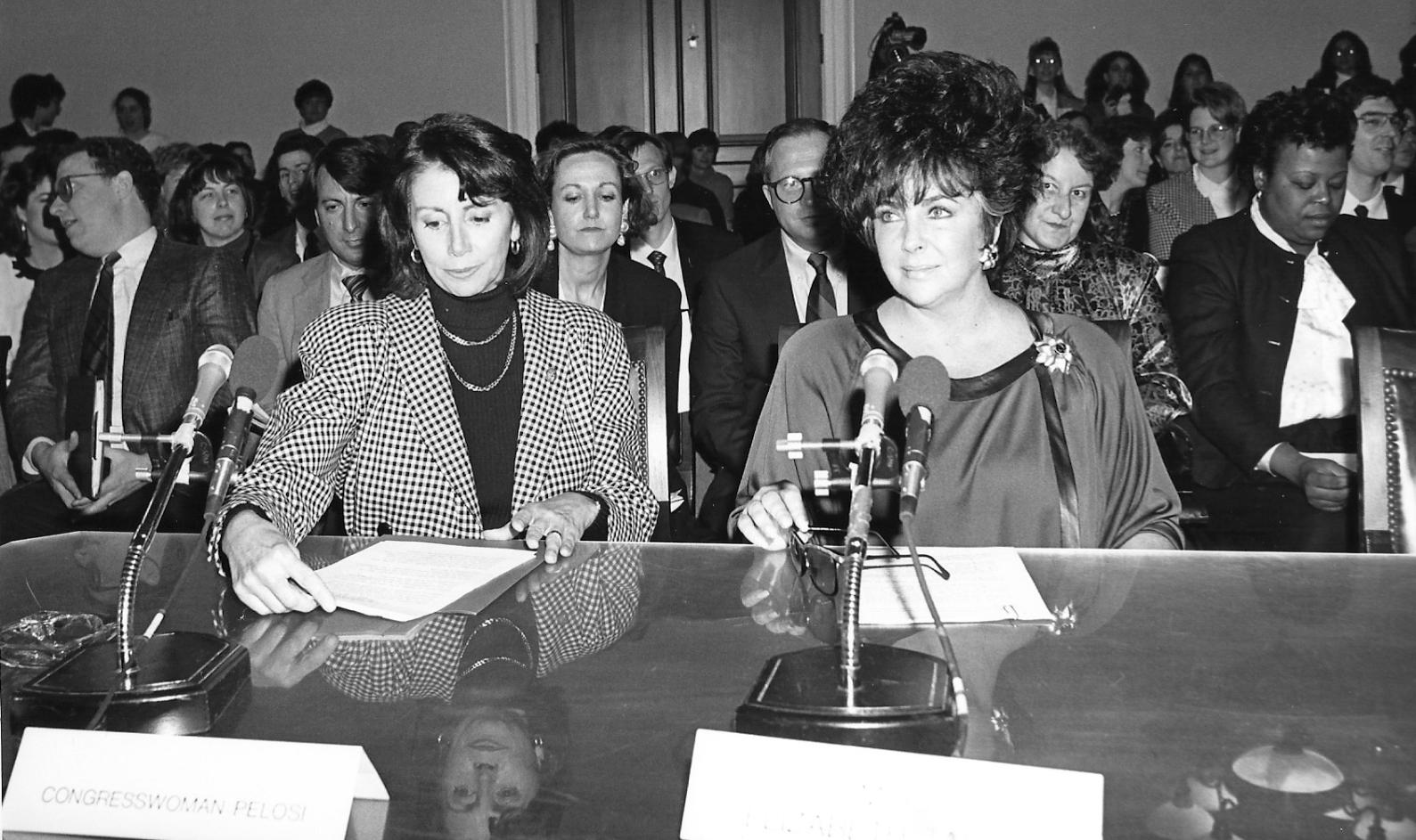 Pelosi and Taylor circa 1987