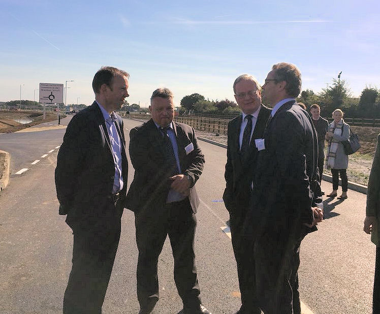 At the opening of the Beccles Southern Relief Road