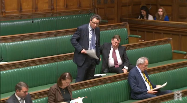 Peter Aldous speaking in the House of Commons at Brexit Questions, May 2018