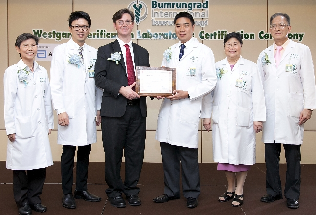 Westgard Sigma VP[tm] of Bumrungrad International Hospital, Bangkok, Thailand