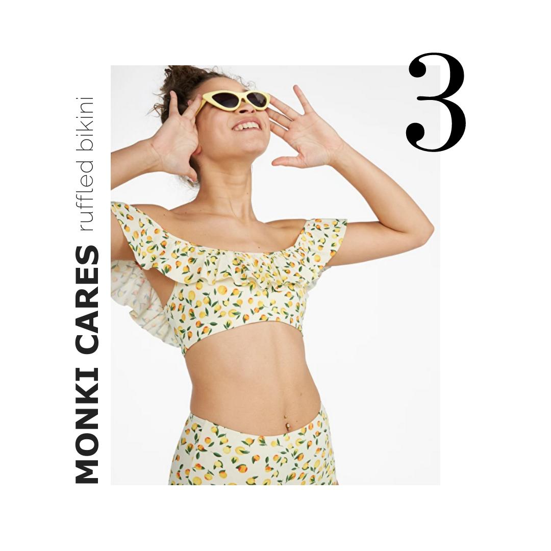 Monki Ruffled bikini