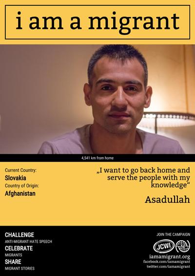 IOM - I am a migrant - Príbeh Asadullaha v SR