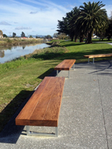 Metal Art seats, Gisborne