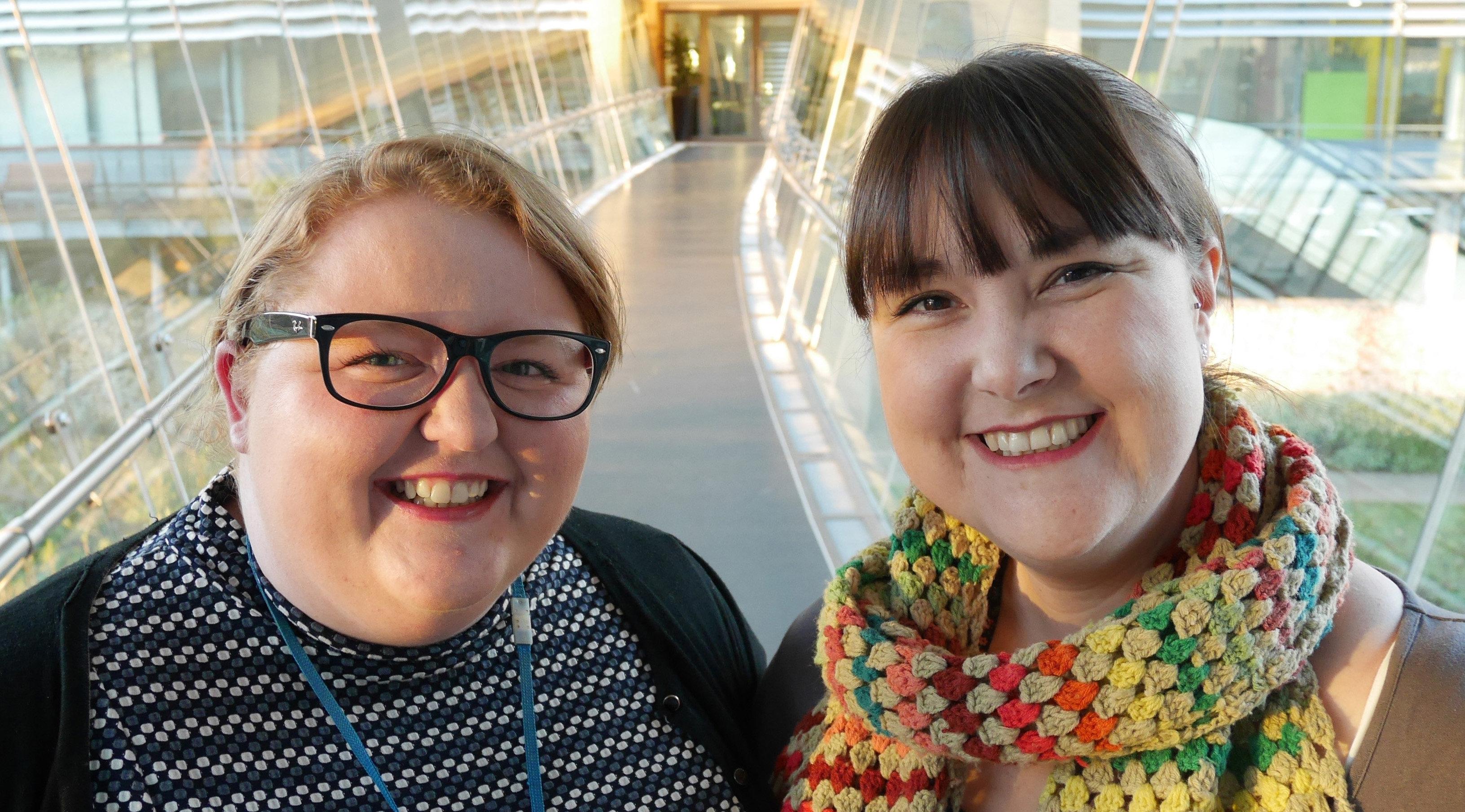 Oxford AHSN 2016 Fellows Jodie and Anna